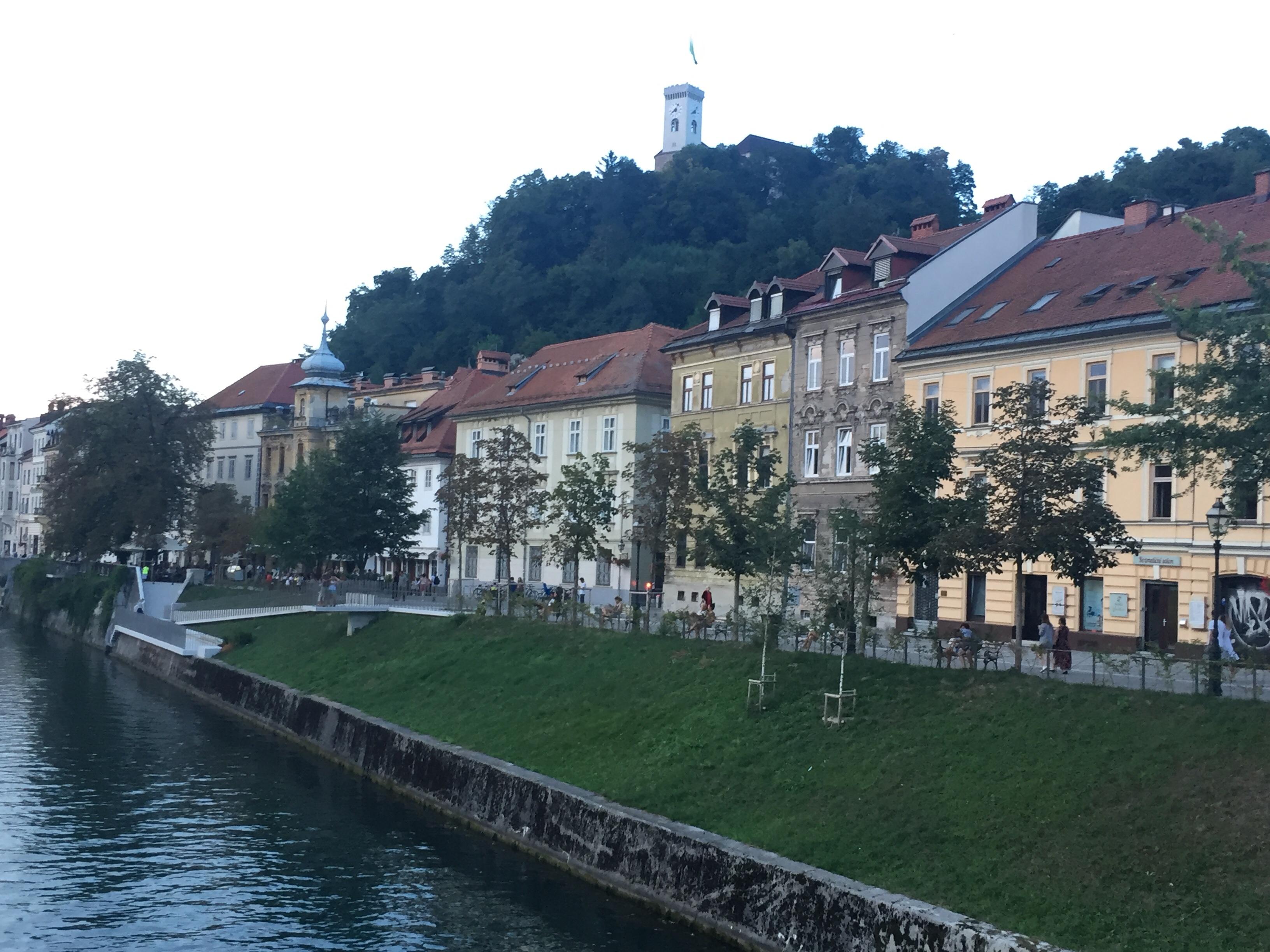Slovenia Ljubiliana river