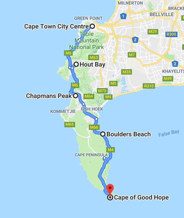 Cape Town Cape of Good Hope itinerary