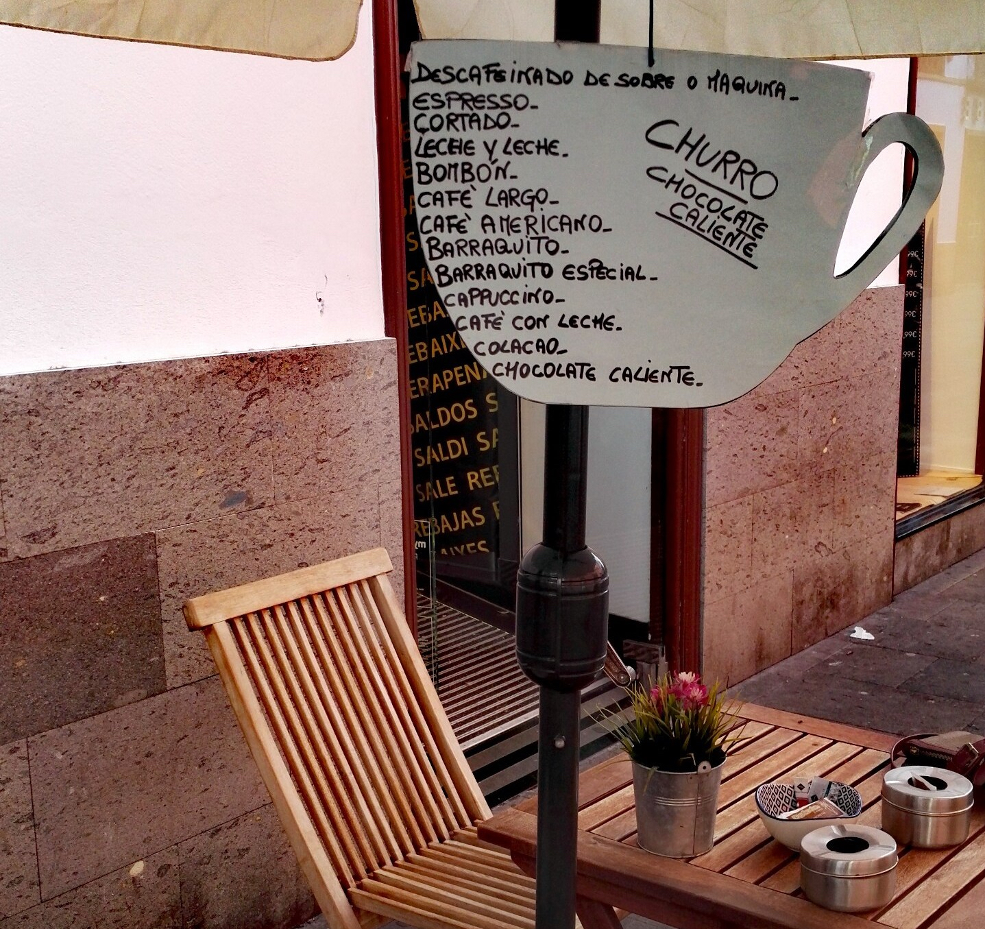 Canarian coffee sign
