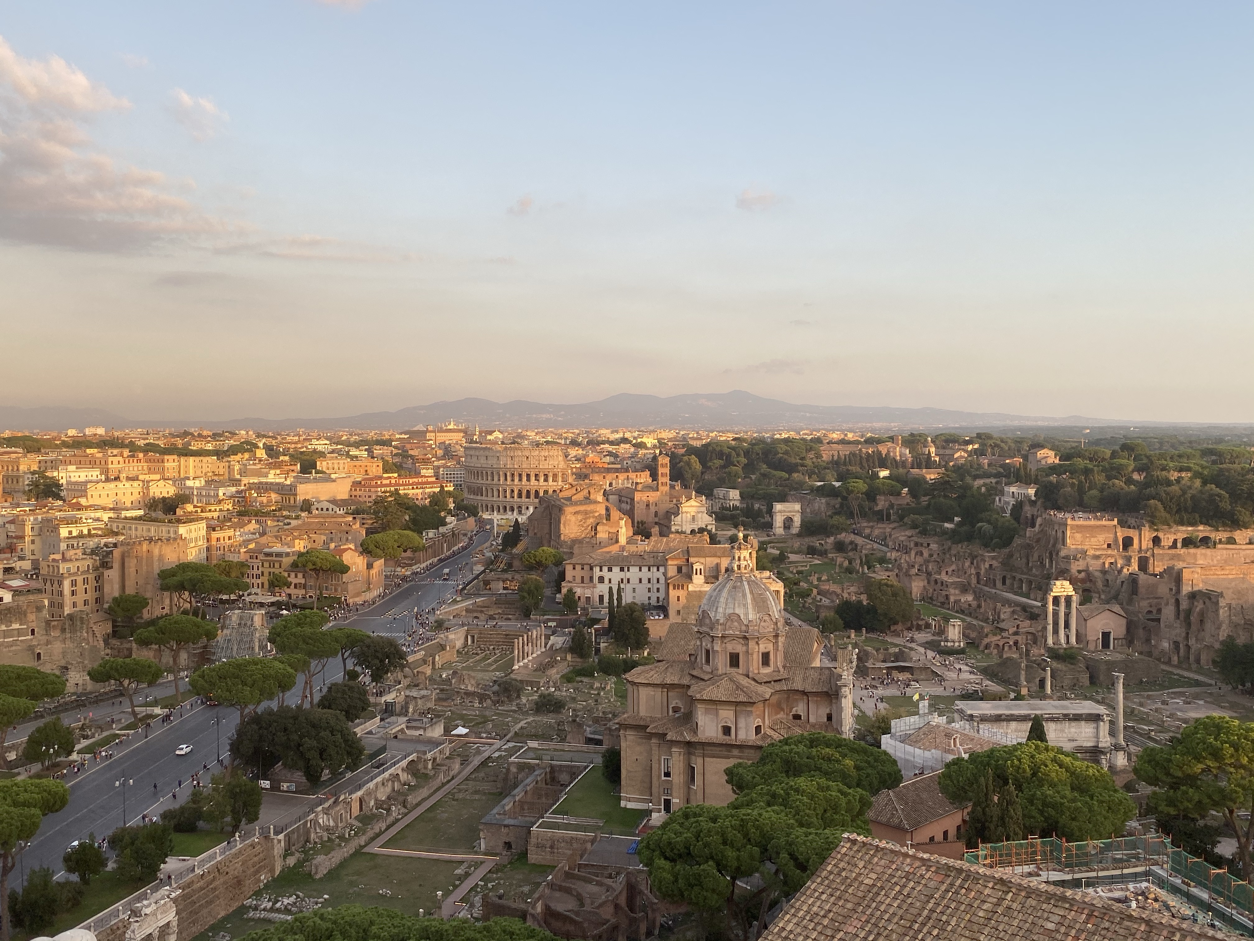 Rome sky view